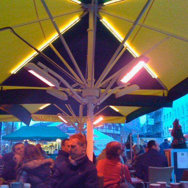 Heliosa 11s under yellow umbrellas