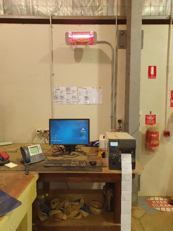 Heliosa 66 warms a workstation at a WA mine depot