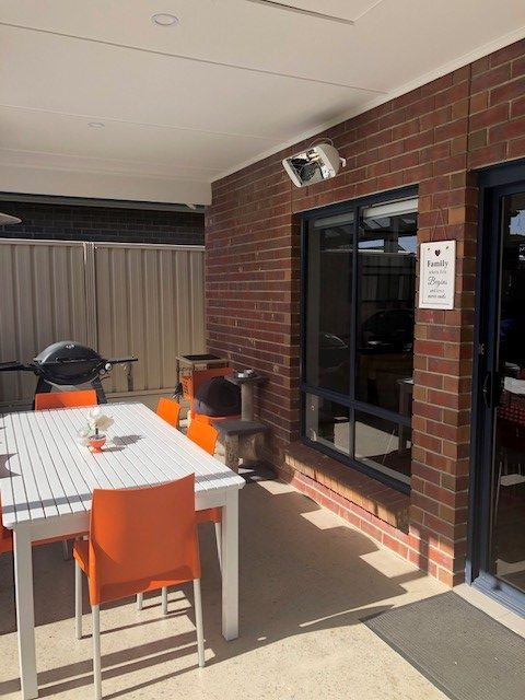 Heliosa 66 warming an open al fresco area