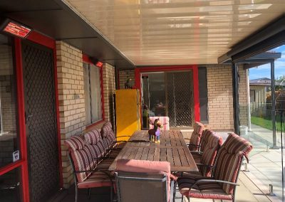 Heliosa 44 used as a pair to warm an outdoor area