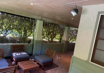 Heliosa 66 installed in a veranda